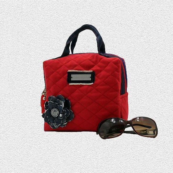 007bf4f3f Hand bag jeans, camellia red handbag jeans, handbag red fabric, trunk bag  in fabric, red wallet with