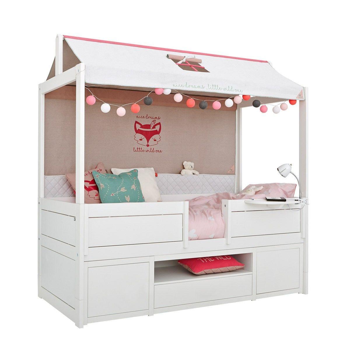 Kojenbett Als Wild Child Baldachinbett Mit Regalmodul In Drei Farben Erhaltlich Cabin Beds For Kids Cabin Bed Solid Wood Wardrobes