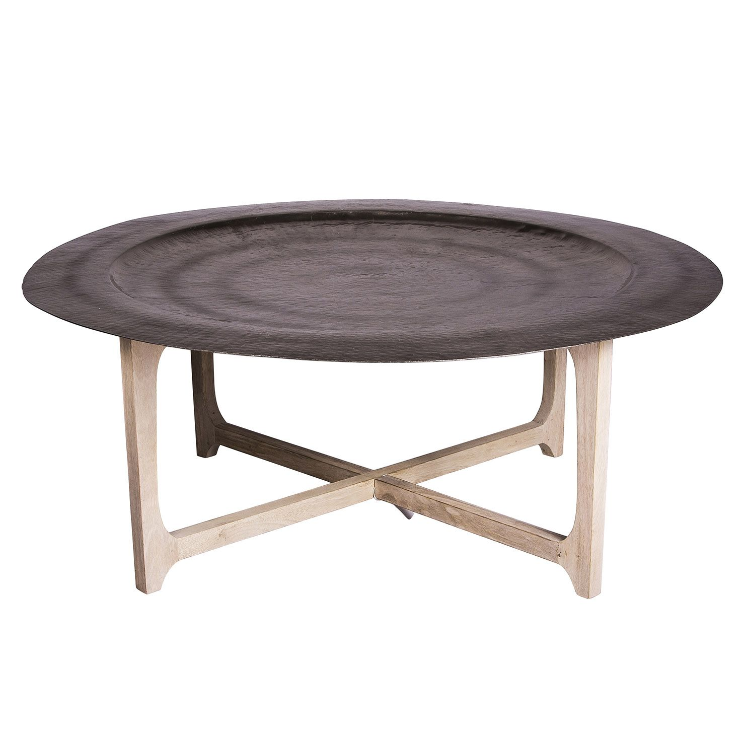 Laide 91cm Mango Wood Tray Table Coffee Table Round Coffee Table Coffee Table Tray [ 1480 x 1480 Pixel ]