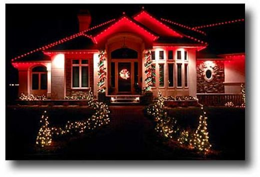 I love just the red and white colors of Christmas lights! I think it still  keeps the