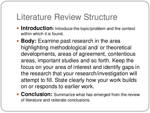 how to write literature review example
