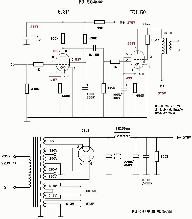 tubeended individual 6t9 amp schematic tube amps