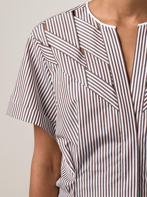 Nina Ricci Woven Striped Shirt -