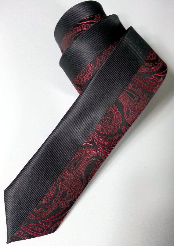 Tie - Black Tie - Men's Necktie - Black Necktie - PP144088 #handmadeatamazon #nazodesign