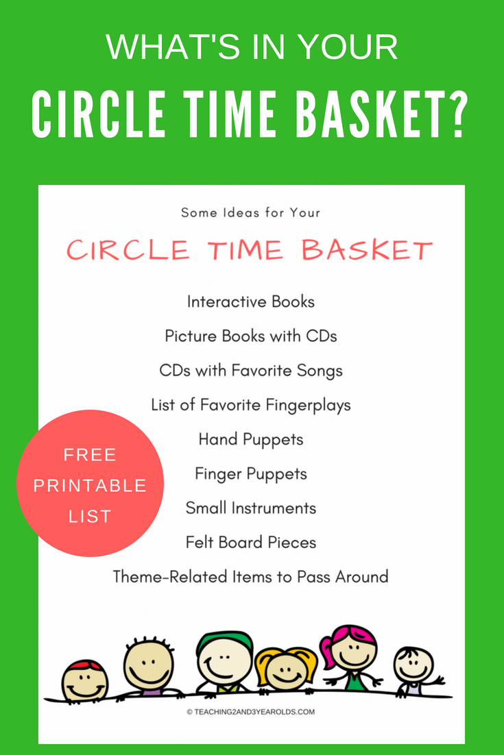 Free Circle Time Printable   Preschool circle time activities ...
