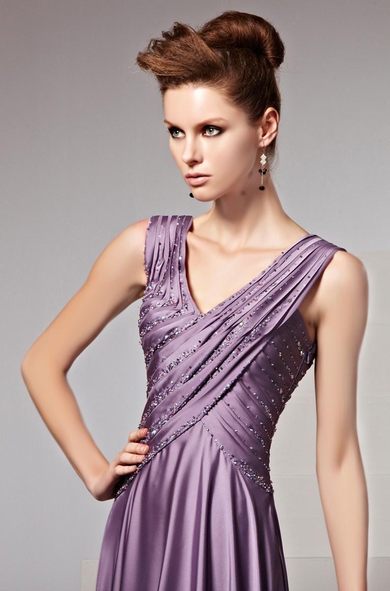 Gown rendylocasciopurplelowvneckhighquality