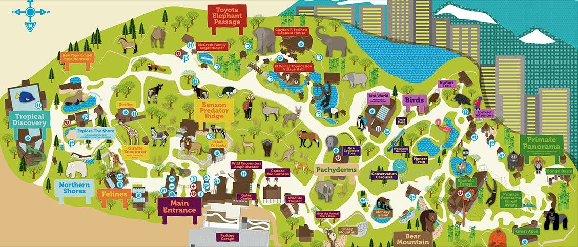 The Entire Map Of The Denver Zoo Come Check Out Your Favorite Animal Denver Zoo Zoo Map Road Trip To Colorado