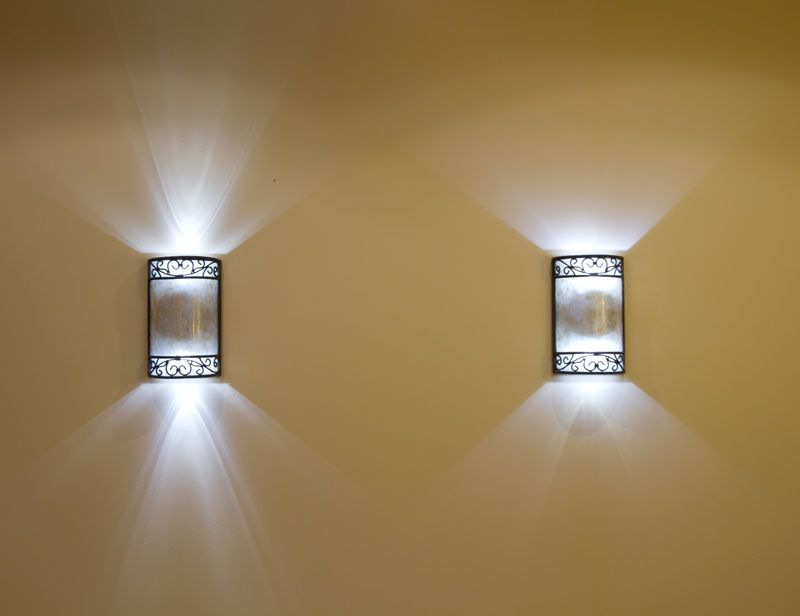 Bathroom Sconce Lighting Ideas Part - 41: Fresco Of Battery-Operated Wall Lights: Light Up Your Home In Instant And  Practical