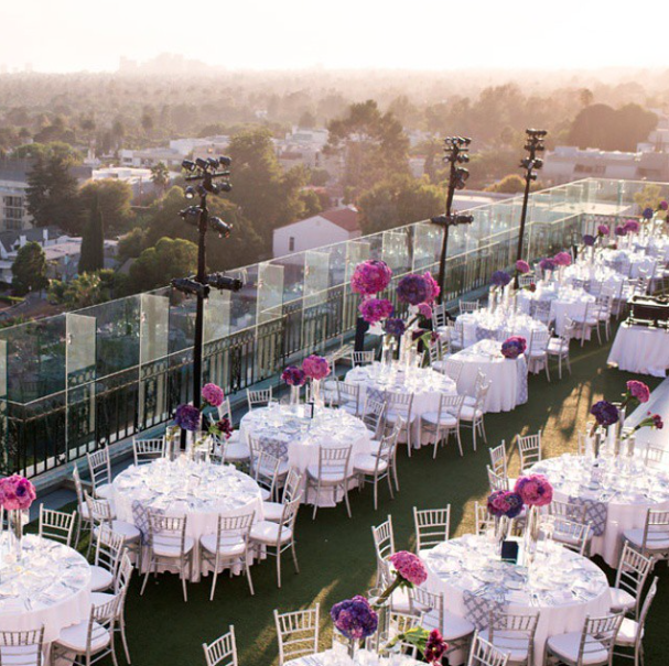 Rooftop Party La Elegant Bloom Box Designs The London West Hollywood