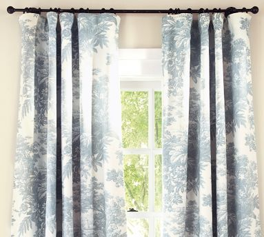 109 Panel Blue Toile Curtains