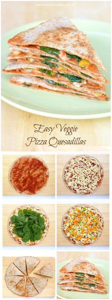 Easy vegetarian pizza quesadilla recipe healthy food pinterest easy vegetarian pizza quesadilla recipe forumfinder Gallery