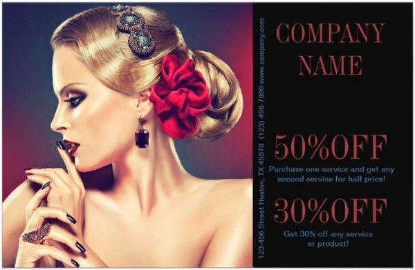 Modern Girly Hair Beauty Salon Makeup Artist Flyers   Beauty