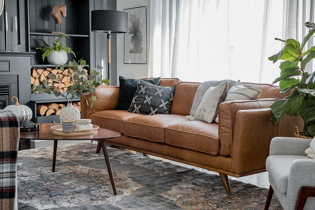 Tan Leather Sofa   Living room leather, Leather couches ...