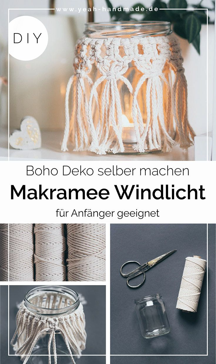 Photo of DIY Makramee Windlicht selber machen – Yeah Handmade
