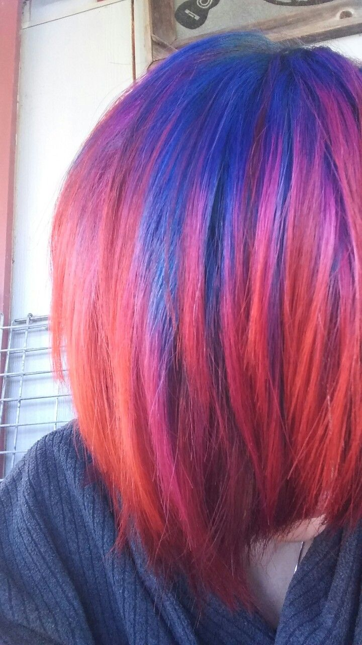 Vivid Galaxy Oil Slick hair color #pravanavivids