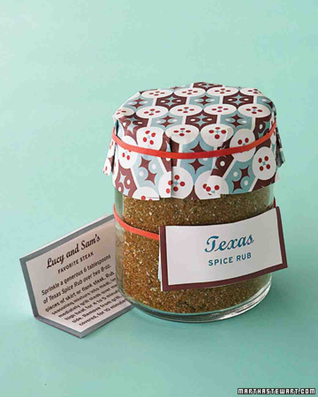 Guests will long remember their trip to the Lone Star State with this homemade spice rub tucked into their travel bags.