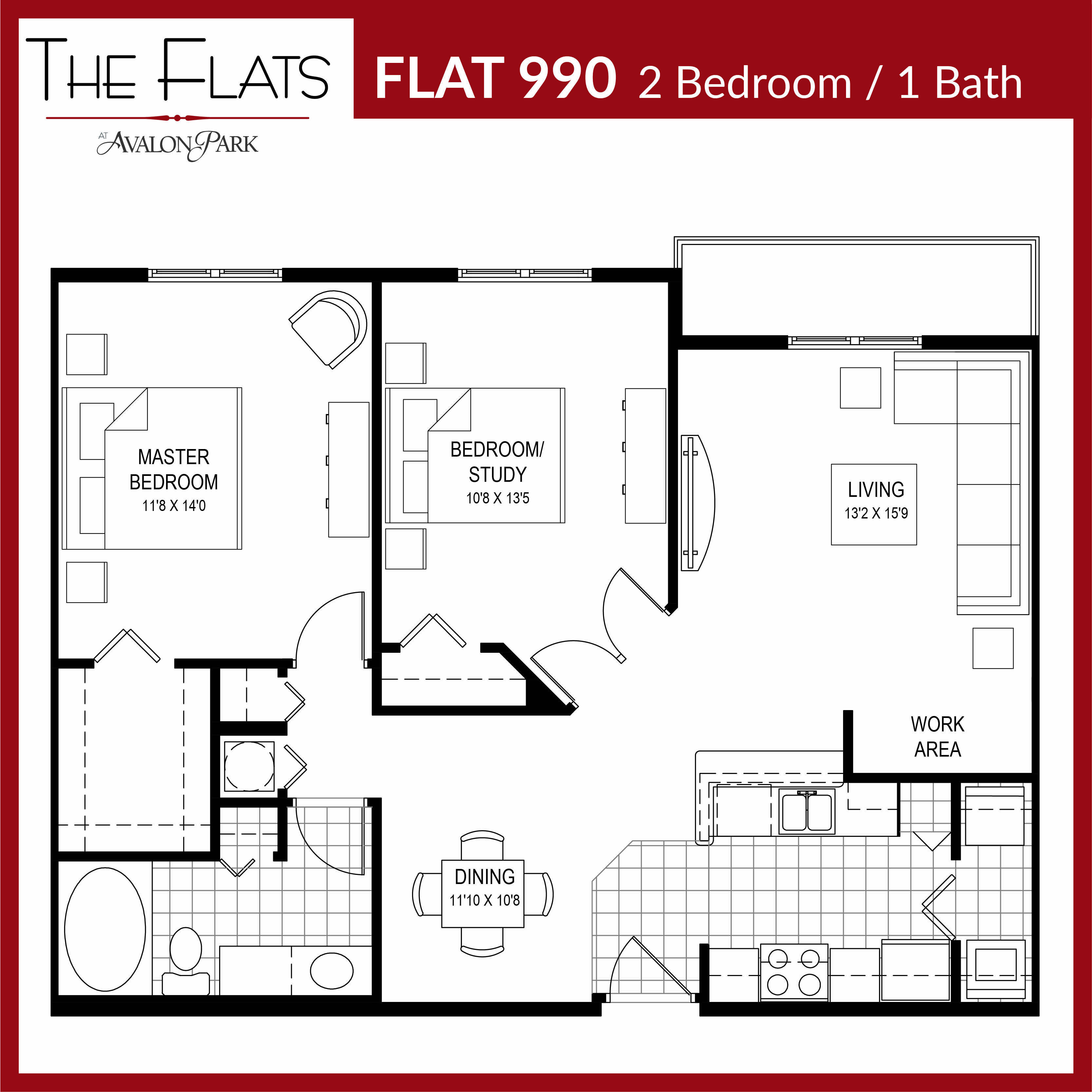 Big 1 Bedroom Apartment This Large 1 Bedroom Apartment Has Recently Undergone Redecoration Work A One Bedroom House 1 Bedroom House Plans Bedroom Floor Plans