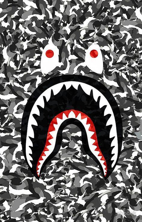 Bape Camo Black Whait Superme Bape Wallpaper Iphone Supreme