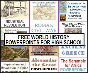 Photo of World History Powerpoints with Guided Notes for High School