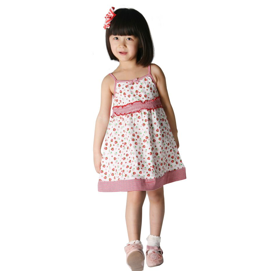 Little Girls Summer Dresses Frog New Little Girl Baby Clothes In Summer Small Suihua Bow Dress