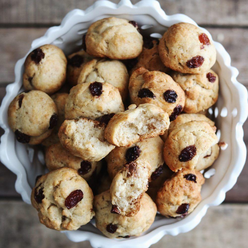 Biscotti vegani con uvetta - Vegan Raisin Cookies