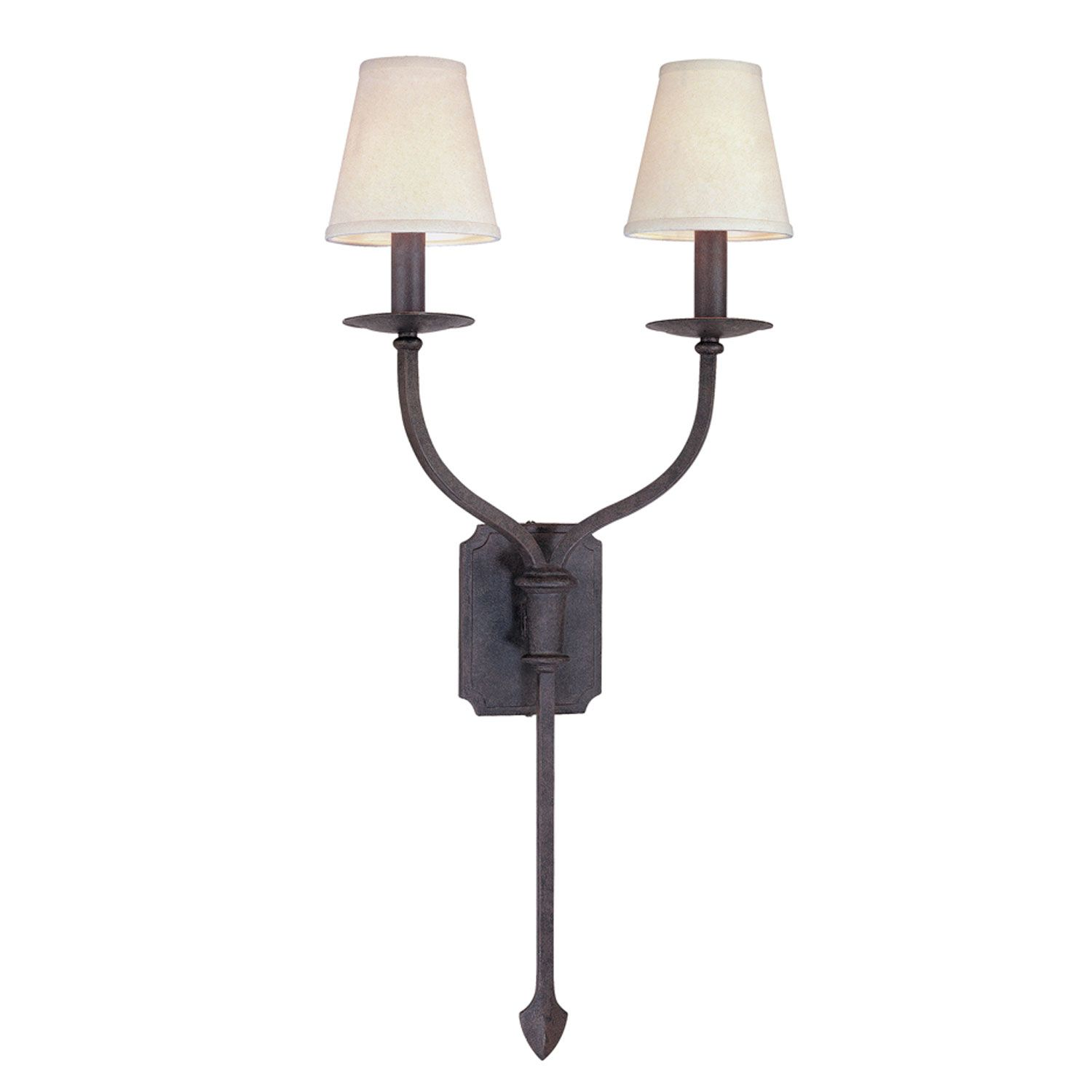 Sconces French Iron Two Light Wall Sconce Troy 2 Light