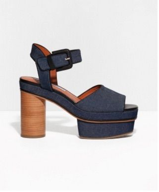 These denim platforms are super chic and summer-ready.