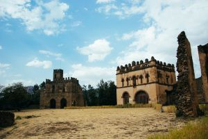 Castles in Africa! These are in Gonder, Ethiopia.