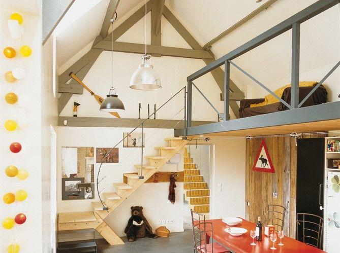 cr er une extension en bois votre maison maison bardage inspiration ineko mezzanine loft. Black Bedroom Furniture Sets. Home Design Ideas