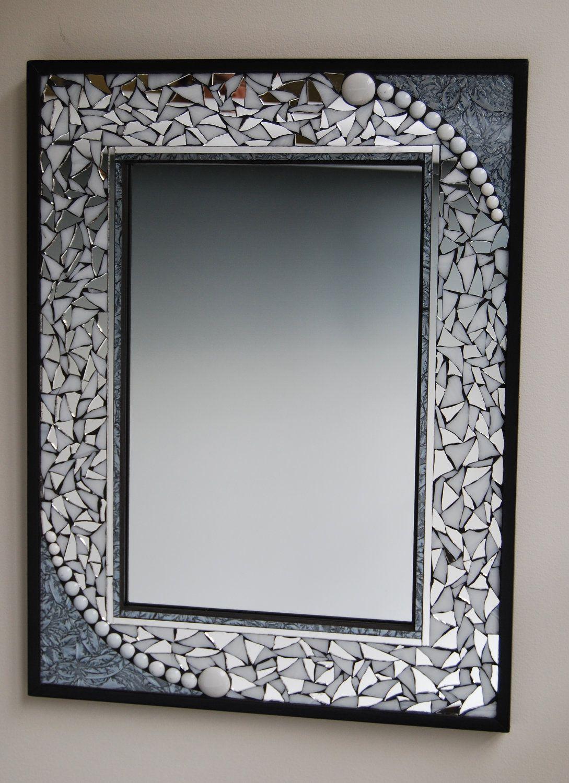 mosaic mirror. $170.00, via Etsy. | Marcos de fotos | Pinterest ...