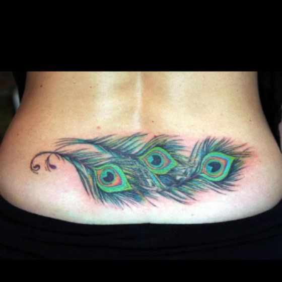 Peacock feather tattoo love this for up my side (not as a tramp stamp)