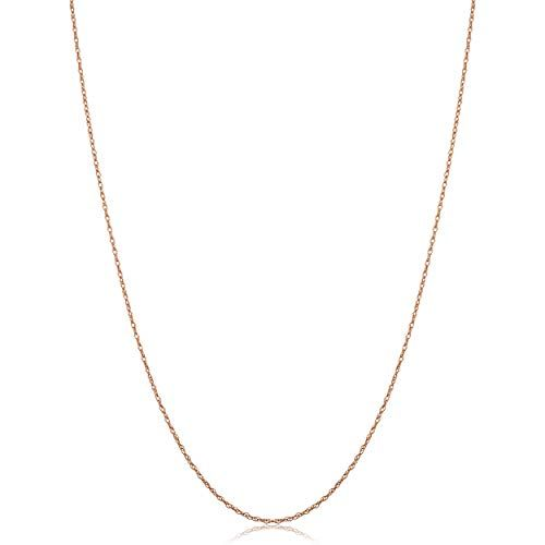 Kooljewelry Solid 10k Rose Gold Dainty Rope Chain Necklace 0 7 Mm 20 Inch Gold Chain With Pendant Chain Necklace Styles Beautiful Pendant Necklace