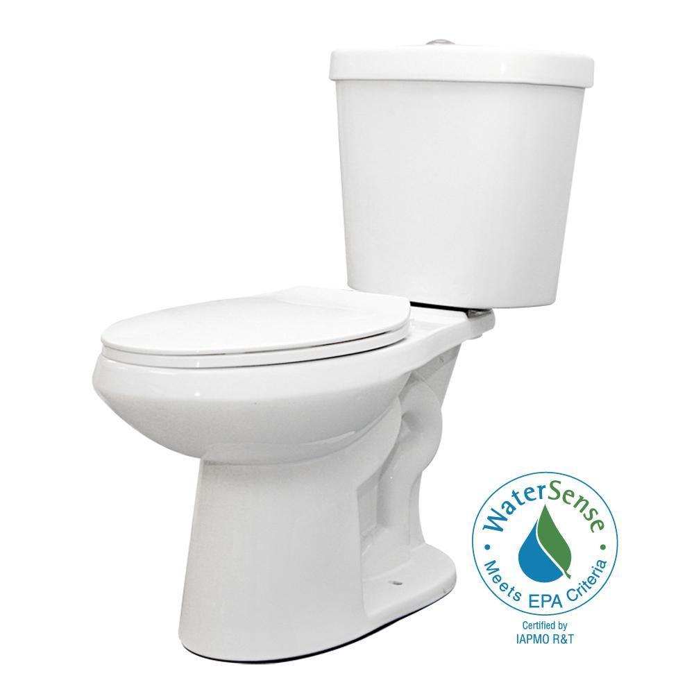 Glacier Bay 2 Piece 1 1 Gpf 1 6 Gpf High Efficiency Dual Flush