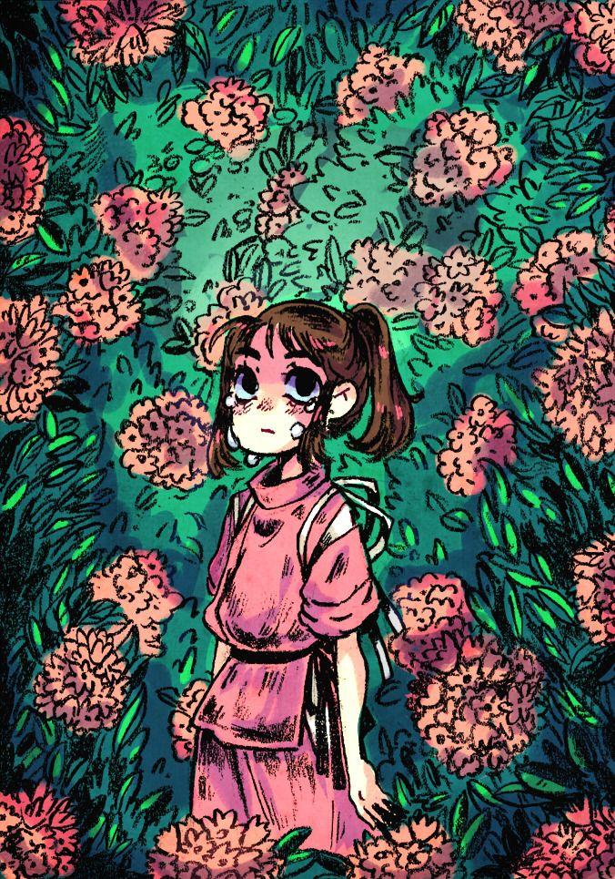 Brittsart Chihiro Running Through The Flowers Was Always One Of My Favorite Scenes From Spirited Away Studio Ghibli Art Studio Ghibli Fanart Art