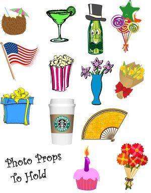 Free Party Printables - Photo Props to Hold - Photobooth Props