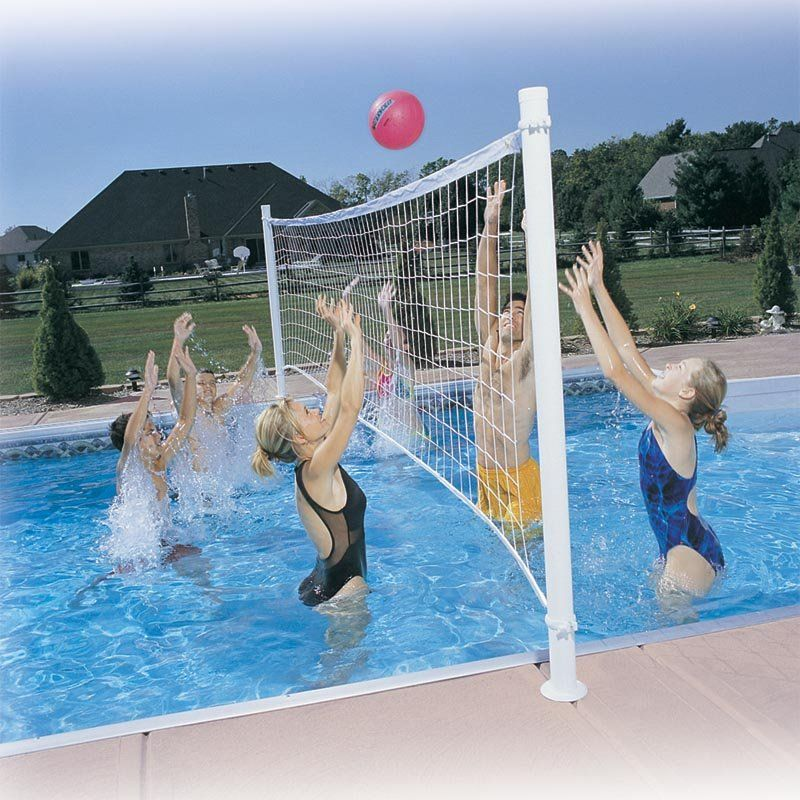 Have to have it. Pro Volly Retrofit Pool Volleyball Kit