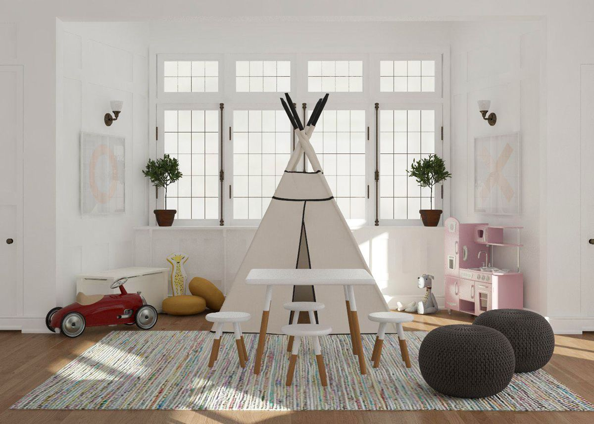 45 Small-Space Kids' Playroom Design Ideas images