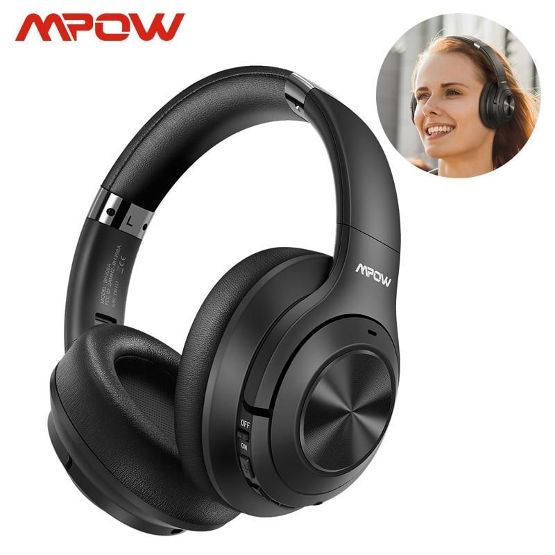 Mpow H21hybrid Active Noise Cancelling Headset Wireless Bluetooth 5 0 Music Headphones 40h Playtime Cvc 6 0 For Noise Cancelling Headset Music Headphones Mpow