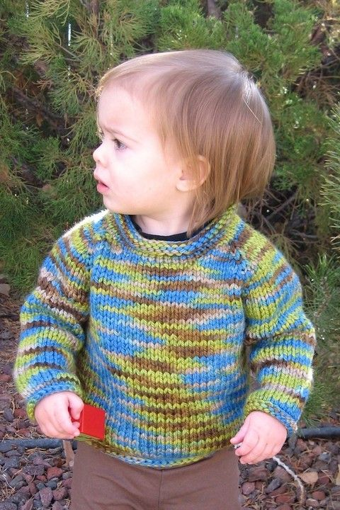 263e3937f Knitting Pure and Simple - 295 - Bulky Baby Pullover (Top Down