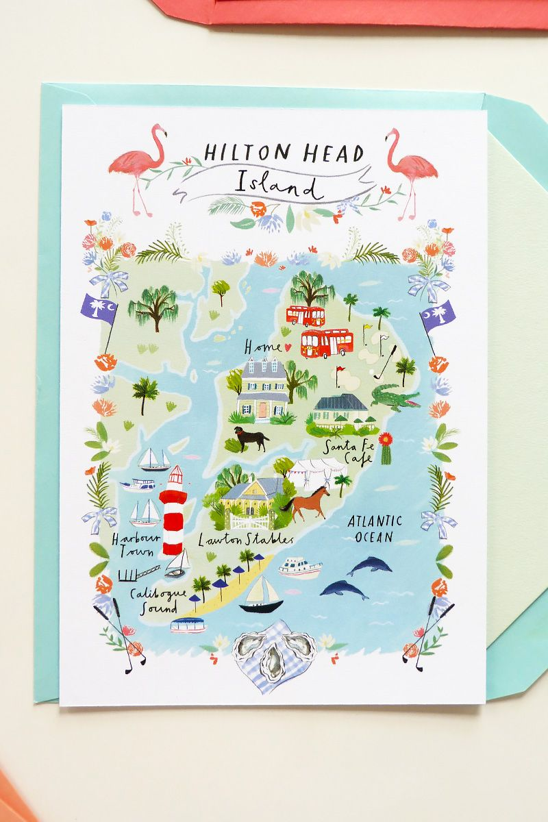 Jolly Edition Custom Wedding Save The Date And Map Ilrated By Clair Rossiter