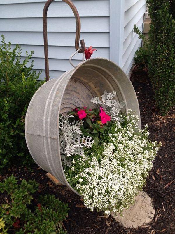 Photo of Destaca el jardín con estas ideas de bricolaje para arreglos coloridos de macetas