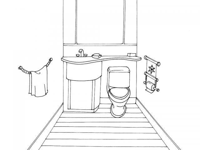 Odalar Boyama Sayfaları Evin Odaları Boyama Sayfaları Evin Bölümleri