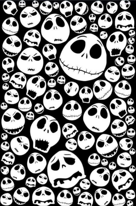 Fondo De Pantalla Jack Caras Fondos De Halloween Fondo De Pantalla Halloween Pantallas De Halloween