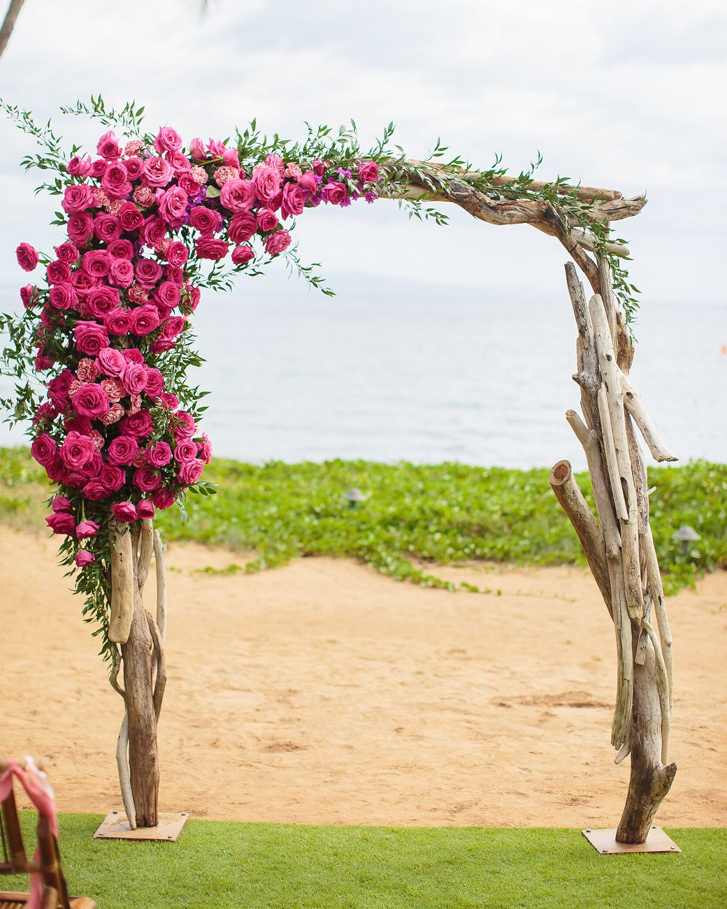 A tropical colorful wedding in maui outdoor wedding