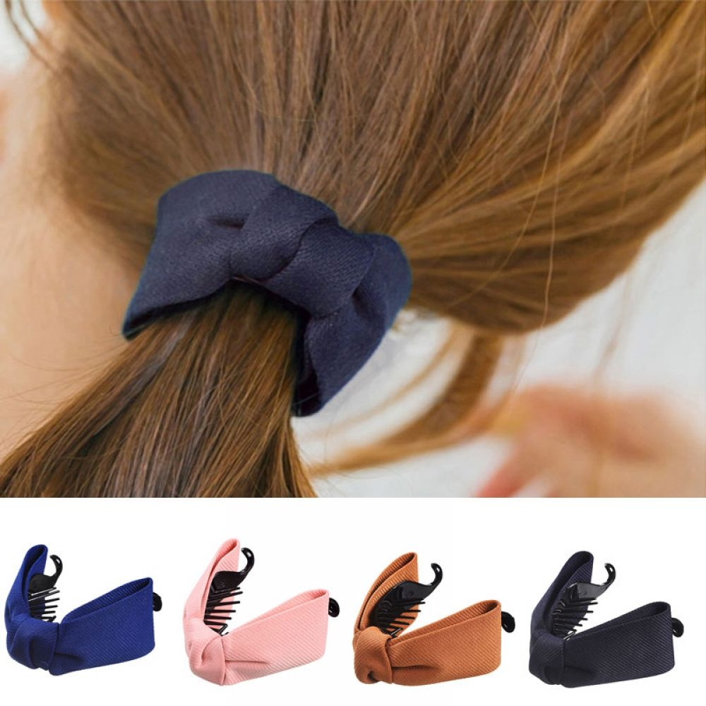 M MISM Fine Elegant Fabric Bow Knot Hairgrips Hair Claws