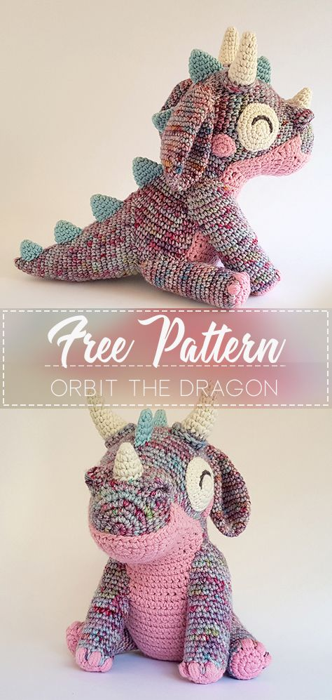 Orbit the Dragon – Pattern Free  #crochetanimals