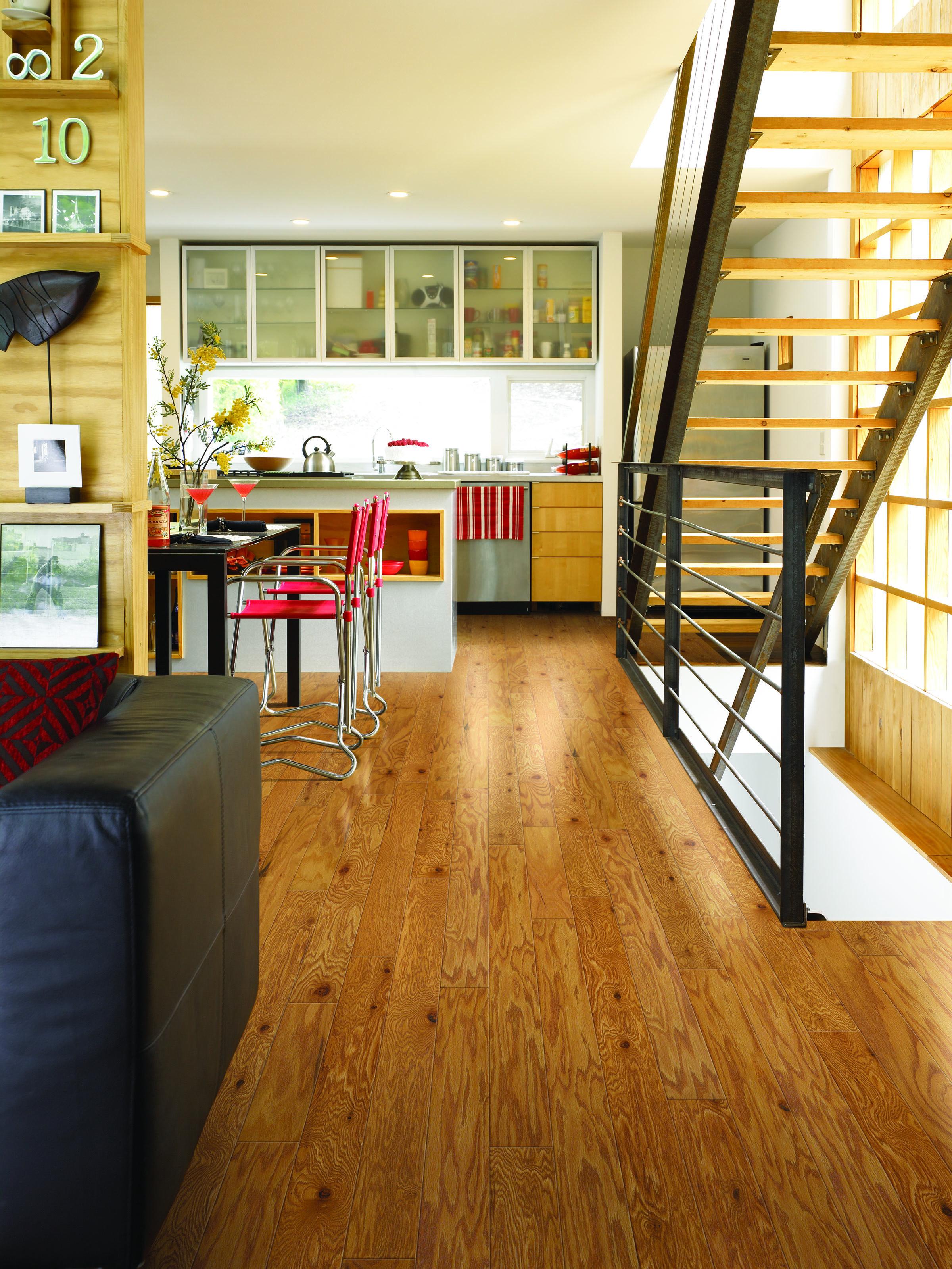 """3 1/4"""" Heartland Engineered Oak Caramel Hardwood Flooring"""