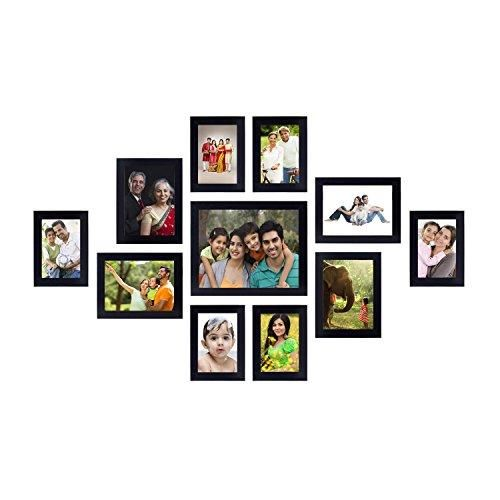 Amazon Brand Solimo Collage Photo Frames Set Of 11 Wall Hanging Black Photo Wall Collage Photo Wall Gallery Picture Gallery Wall