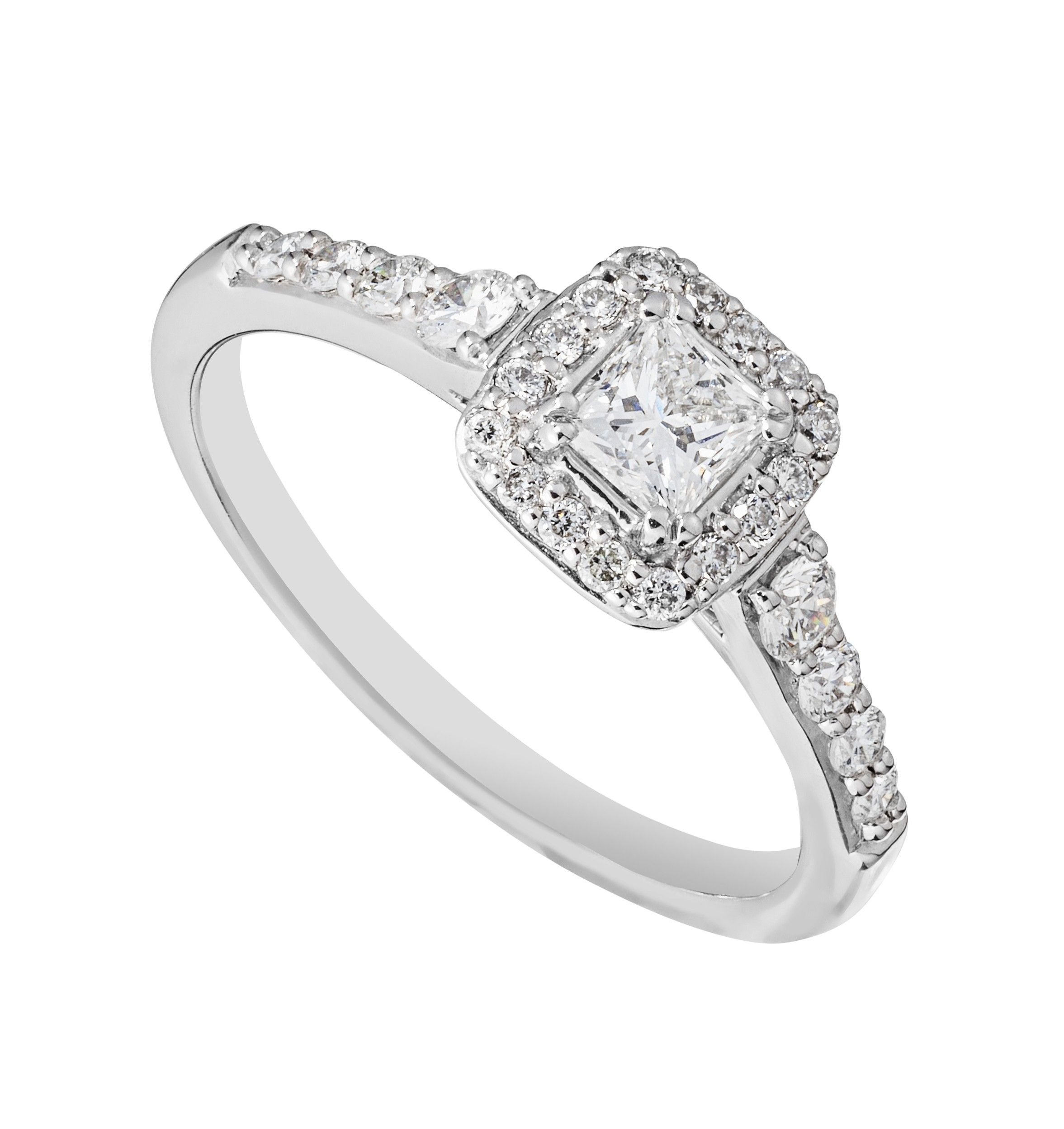 engagement amouria piece rings two diamond cushion halo ring