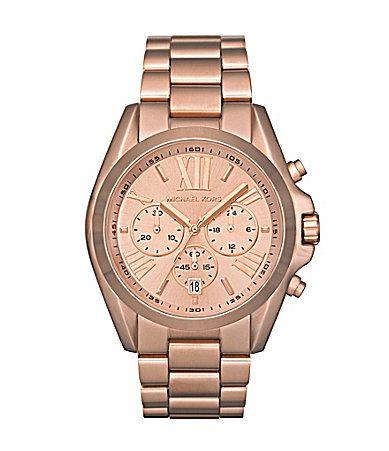 Michael Kors Roman Rose Gold Chronograph Watch   Rose gold